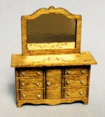 Sweetheart Mirrored Dresser Quarter-inch scale