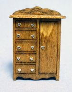 Sweetheart Tall Dresser Quarter-inch scale