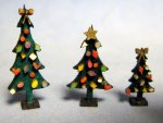 Tabletop Christmas Tree Quarter-inch scale