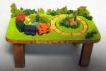 Train Table, Landscaped Half-inch scale