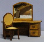 Tribeca Dressing Table and Chair Half-inch scale