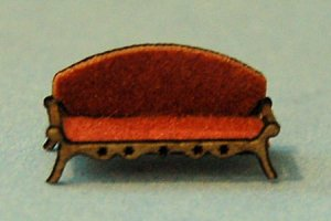 Victorian Era Sofa 1/144th scale