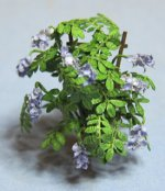 Wisteria on a Trellis in a Terra Cotta Pot Quarter-inch scale