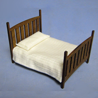 Arts and Crafts Era Bed Half-inch scale
