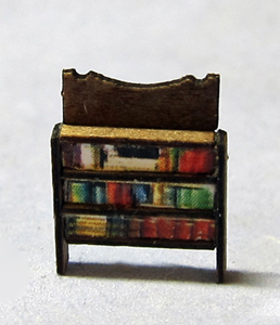 Small Bookcase With Printed Books 1/144th scale