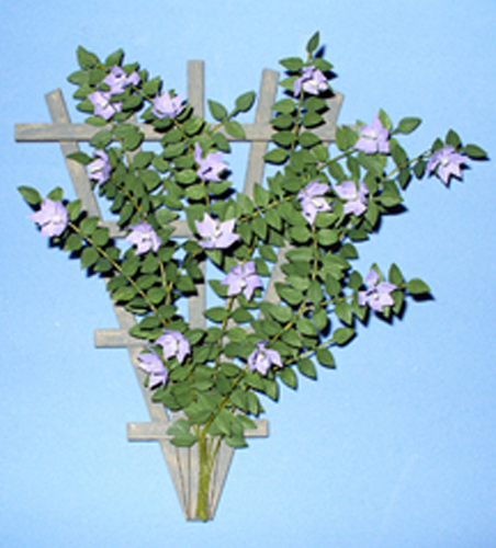 Clematis on a Trellis One-inch scale - Click Image to Close