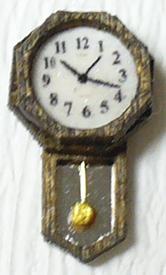 Dollhouse Miniatures Quarter Scale Round Schoolhouse-Style Clock Kit