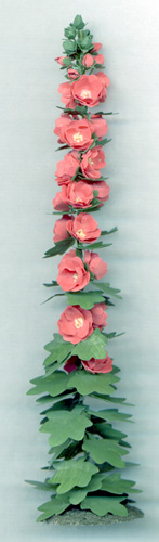 Hollyhock One-inch scale