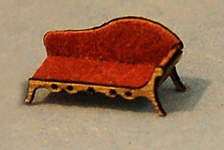 1//144th Scale Dollhouse Miniature Chaise Lounge Fainting Couch with Cushion Tiny